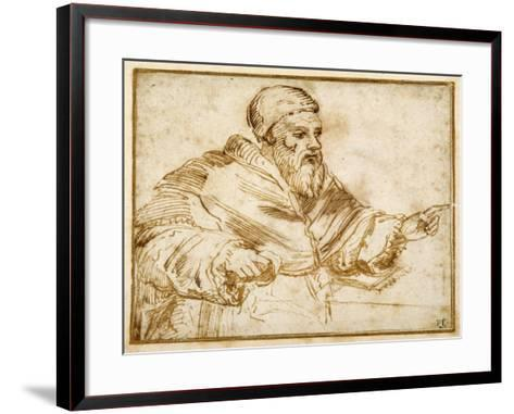 Clement VII Seated at a Table-Giorgio Vasari-Framed Art Print