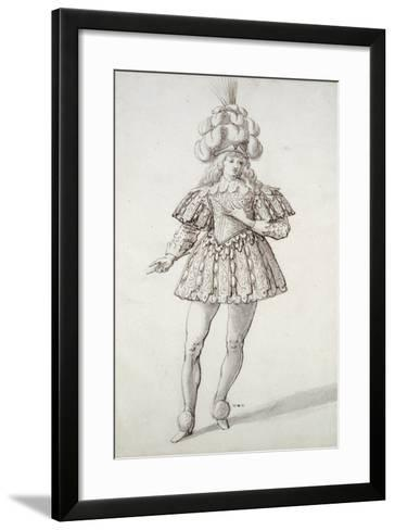 Masquer with Feathers and Plume-Inigo Jones-Framed Art Print