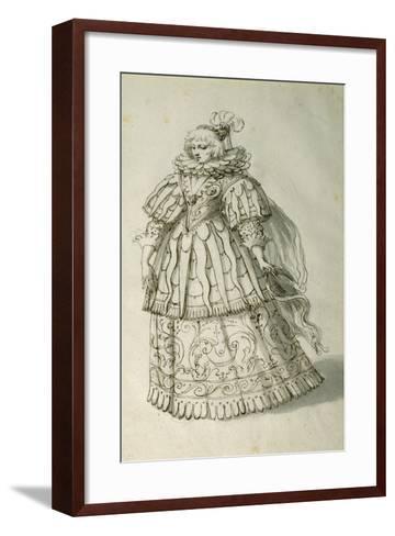 Masquer, C.1638-Inigo Jones-Framed Art Print