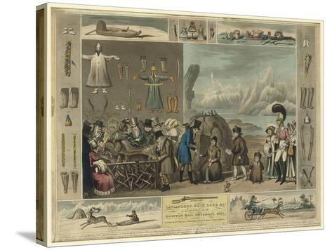 Laplanders, Reindeer Etc., as Exhibited at the Egyptian Hall, Piccadilly, 1822-Isaac Cruikshank-Stretched Canvas Print