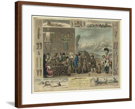 Laplanders, Reindeer Etc., as Exhibited at the Egyptian Hall, Piccadilly, 1822-Isaac Cruikshank-Framed Art Print
