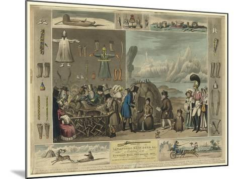Laplanders, Reindeer Etc., as Exhibited at the Egyptian Hall, Piccadilly, 1822-Isaac Cruikshank-Mounted Giclee Print