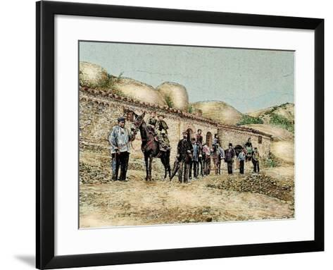 Hikers in San Jeronimo, Montserrat, Catalonia, Spain, from 'The Illustration', 1890-L. Urgelles-Framed Art Print