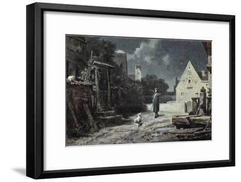 The Night Watchman-Carl Spitzweg-Framed Art Print