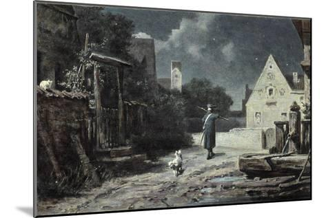 The Night Watchman-Carl Spitzweg-Mounted Giclee Print