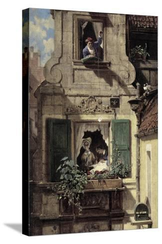The Intercepted Love Letter, C.1855-60-Carl Spitzweg-Stretched Canvas Print