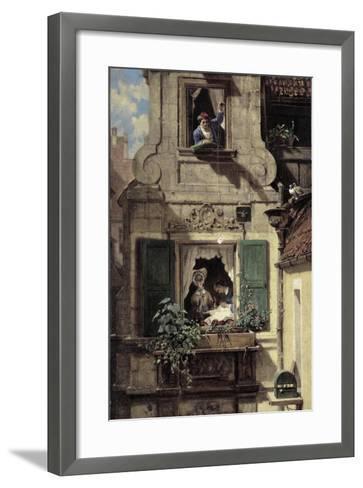 The Intercepted Love Letter, C.1855-60-Carl Spitzweg-Framed Art Print