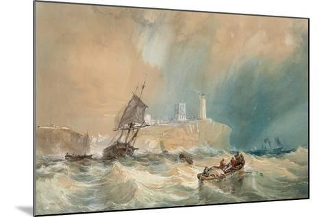 A Trading Brig Running Out of Tynemouth-John Wilson Carmichael-Mounted Giclee Print