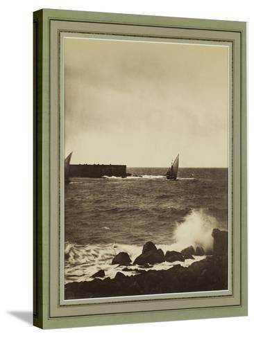 The Breaking Wave, Mediterranean, C.1857-Gustave La Gray-Stretched Canvas Print