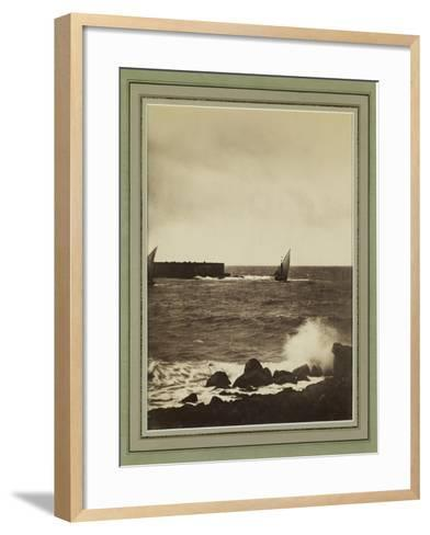 The Breaking Wave, Mediterranean, C.1857-Gustave La Gray-Framed Art Print