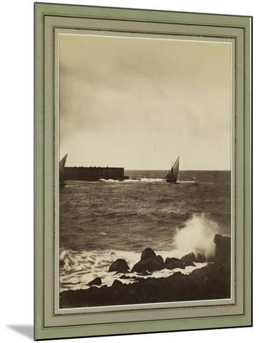 The Breaking Wave, Mediterranean, C.1857-Gustave La Gray-Mounted Giclee Print