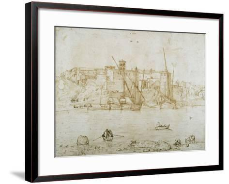 View of the Ripa Grande, Rome, C.1552-Pieter Bruegel the Elder-Framed Art Print