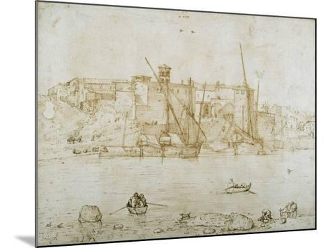 View of the Ripa Grande, Rome, C.1552-Pieter Bruegel the Elder-Mounted Giclee Print
