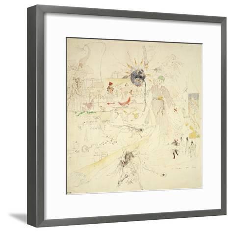 A Dream in Absinthe, 1890-Charles Edward Conder-Framed Art Print