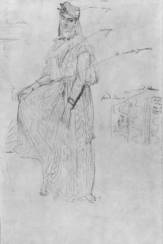 Moorish Woman-Theodore Chasseriau-Stretched Canvas Print