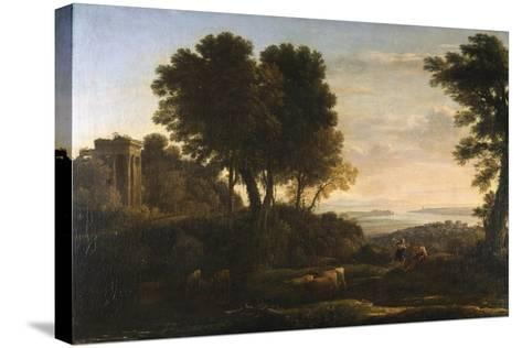 Landscape with Mercury and Battus, 1663-Claude Lorraine-Stretched Canvas Print