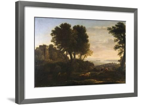 Landscape with Mercury and Battus, 1663-Claude Lorraine-Framed Art Print