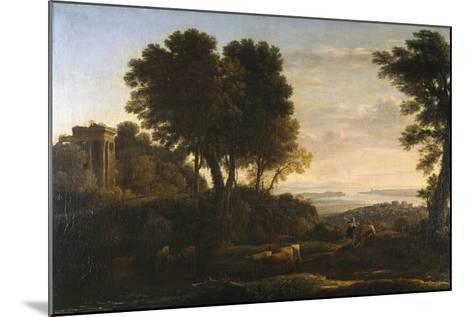 Landscape with Mercury and Battus, 1663-Claude Lorraine-Mounted Giclee Print