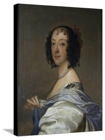 Portrait of Elzabeth, Baroness Clifford, after C.1639-Sir Anthony Van Dyck-Stretched Canvas Print