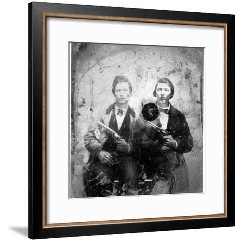 Jesse and Frank James, C.1866-76--Framed Art Print
