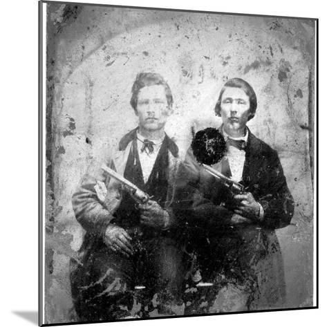 Jesse and Frank James, C.1866-76--Mounted Photographic Print