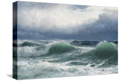 Stormy Sea with Translucent Breakers, 1894-David James-Stretched Canvas Print
