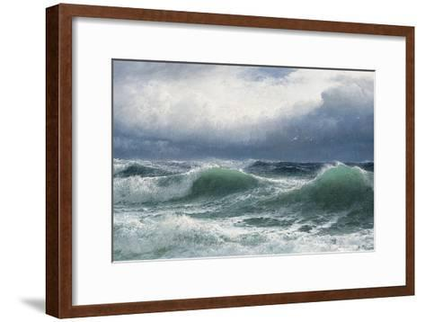 Stormy Sea with Translucent Breakers, 1894-David James-Framed Art Print