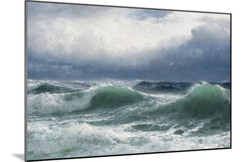 Stormy Sea with Translucent Breakers, 1894-David James-Mounted Giclee Print