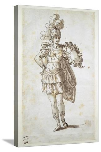 Knight or Squire Bearing a Shield-Inigo Jones-Stretched Canvas Print