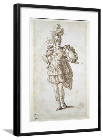 Knight or Squire Bearing a Shield-Inigo Jones-Framed Art Print