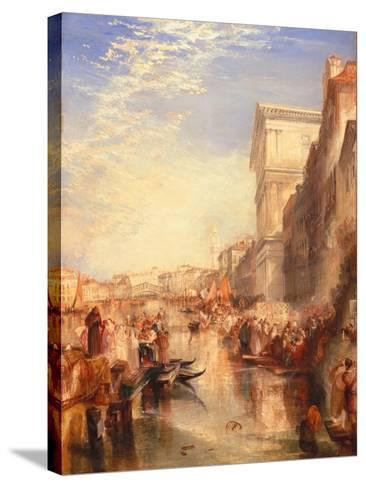 The Grand Canal: Scene - a Street in Venice, C.1837-J^ M^ W^ Turner-Stretched Canvas Print