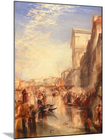 The Grand Canal: Scene - a Street in Venice, C.1837-J^ M^ W^ Turner-Mounted Giclee Print