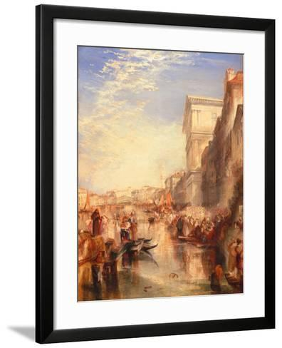 The Grand Canal: Scene - a Street in Venice, C.1837-J^ M^ W^ Turner-Framed Art Print