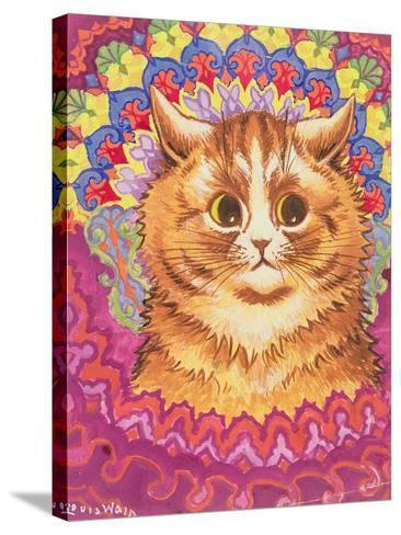 A Psychotic Cat-Louis Wain-Stretched Canvas Print
