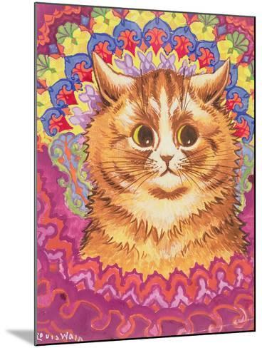 A Psychotic Cat-Louis Wain-Mounted Giclee Print
