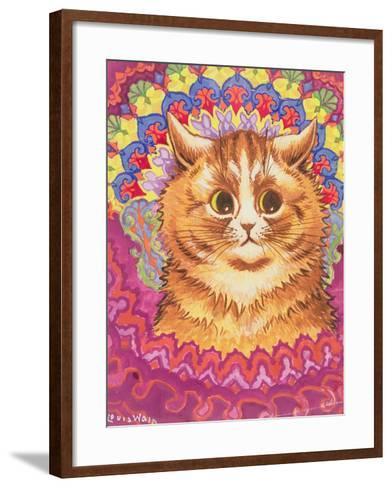 A Psychotic Cat-Louis Wain-Framed Art Print
