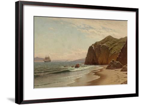 View of San Francisco Bay from Land's End, 1883-Raymond Dabb Yelland-Framed Art Print