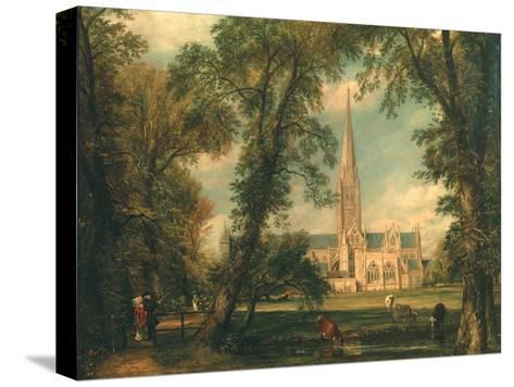 Salisbury Cathedral from the Bishop's Grounds, 1823-26-John Constable-Stretched Canvas Print