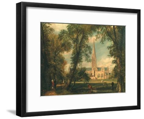 Salisbury Cathedral from the Bishop's Grounds, 1823-26-John Constable-Framed Art Print