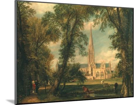 Salisbury Cathedral from the Bishop's Grounds, 1823-26-John Constable-Mounted Giclee Print