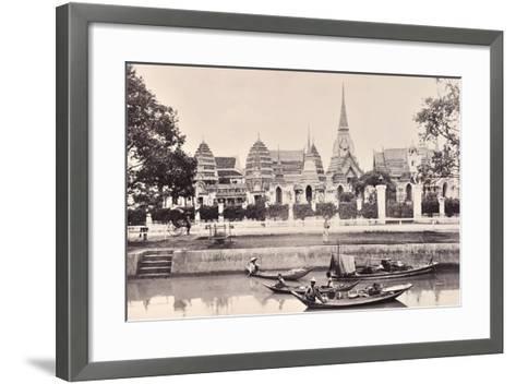View of a Canal in Bangkok, C.1890-Robert Lenz-Framed Art Print