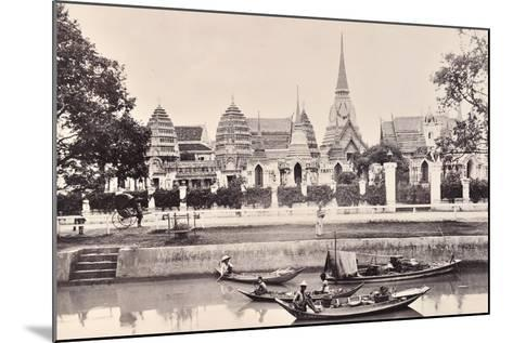 View of a Canal in Bangkok, C.1890-Robert Lenz-Mounted Photographic Print