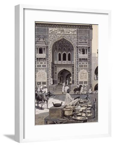 The Mosque of Nazir Khan, Lahore, C.1890-Harry Hamilton Johnston-Framed Art Print