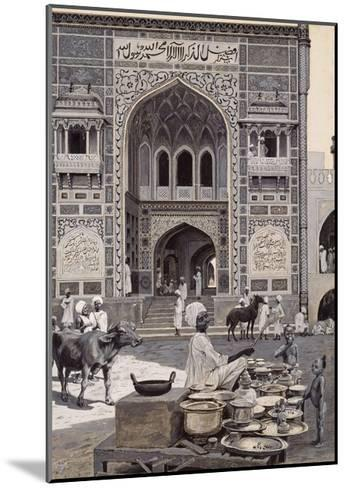 The Mosque of Nazir Khan, Lahore, C.1890-Harry Hamilton Johnston-Mounted Giclee Print