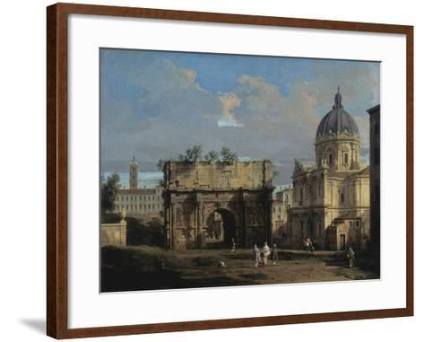 The Arch of Septimus Severus in Rome-Canaletto-Framed Art Print