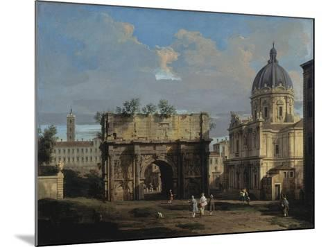 The Arch of Septimus Severus in Rome-Canaletto-Mounted Giclee Print