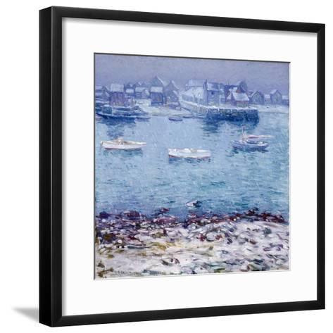 Harbor in Winter-Charles Kaelin-Framed Art Print