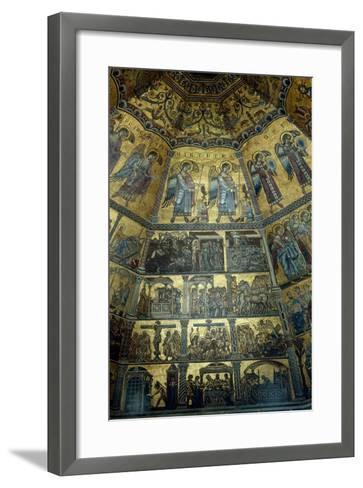 Mosaic on the Domed Ceiling of St John's Baptistry, Florence--Framed Art Print