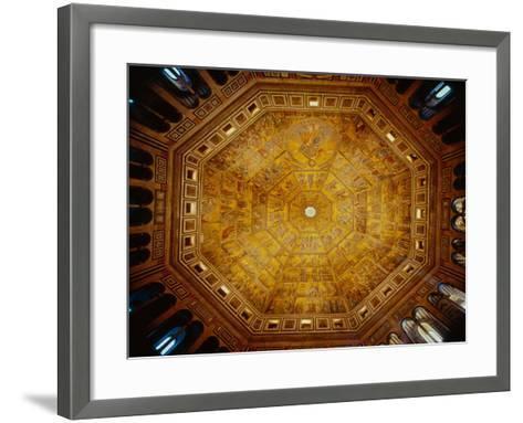 Domed Ceiling of St John's Baptistry, Florence--Framed Art Print
