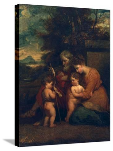 Holy Family-Sir Joshua Reynolds-Stretched Canvas Print